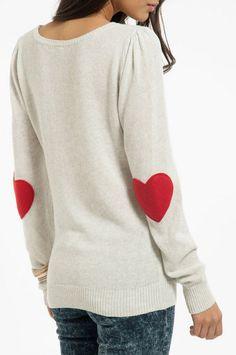 hearts on elbows! Sweater Coat #coatwomen #newstyle #kathyna257892 #SweaterCoat #Sweater #Coat #newclothings   www.2dayslook.com