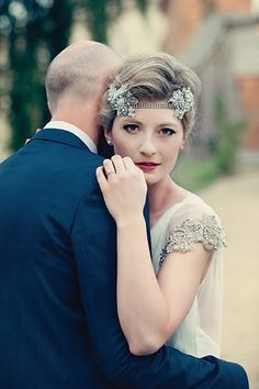 Red Lips, A Statement Headpiece And Gatsby Inspired Glamour