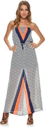 THML Strapless maxi dress. http://www.swell.com/New-Arrivals-Womens/THML-GENESIS-PRINTED-STRAPLESS-MAXI-DRESS?cs=BL