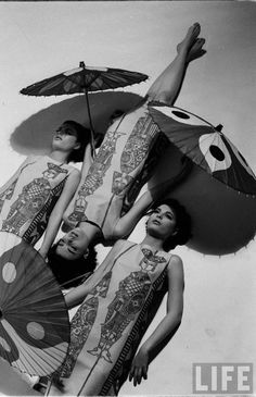 The Dees Triplets. Photo by Nina Leen for LIFE Magazine