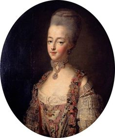 Marie Antoinette (1755–1793), Queen of France, in a Court Dress by François Hubert Drouais, 1773 France, the Victoria and Albert Museum François Hubert Drouais (1727-1775) was born in Paris. He trained with his father, Hubert Drouais (1699-1767) and then with Donat Nonotte (1708-1785), Carle van Loo (1705-1765), Charles-Joseph Natoire (1700-1777) and François Boucher (1703-1770). He became a member of the Académie Royale in 1755 and achieved quickly a great success as a ...