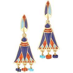 The Met Store - Egyptian Lotus Earrings