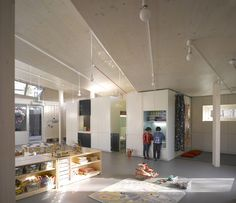 Montpelier Community Nursery by AY Architects | modular bench / shelf units designed at the child's scale