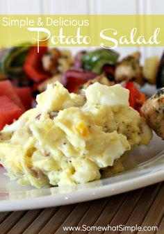 This potato salad recipe is a family favorite! It is delicious and takes little time to prepare.