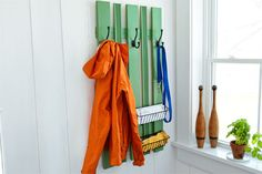 No room for an entryway closet? No problem. Keep outerwear organized with this simple-to-build piece. | Photo: Wendell T. Webber | thisoldhouse.com
