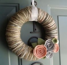 Yarn Wreath Yarn Wreath Yarn Wreath