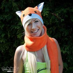 Fox Hat and Tail Scarf