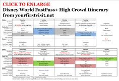 FastPass+ Itinerary for High Crowd Weeks from yourfirstvisit.net