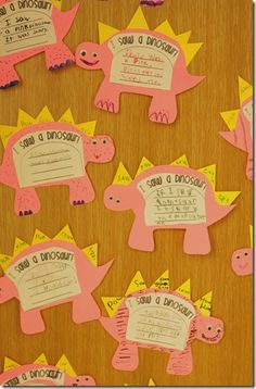 Cute writing activity about  dinosaurs and fossil activity! A must do for next year!