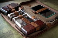 1920's Mens Leather Toiletry Bag. Classic style simply can't be beat.