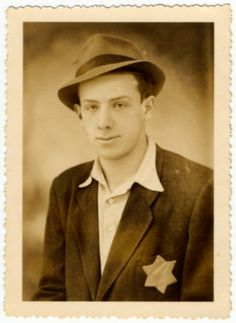 Studio portrait of Moshe Stern taken in Budapest 1944 prior to his starting forced labor.
