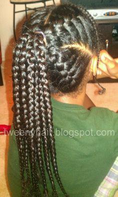 Goddess braid ponytail