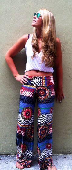 Print Summer Pants