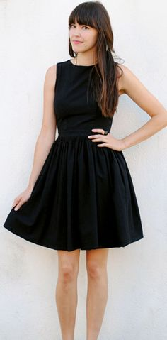 Perfect lbd and bangs. So simple.