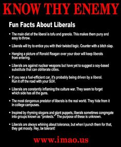 Fun Facts About Liberals...