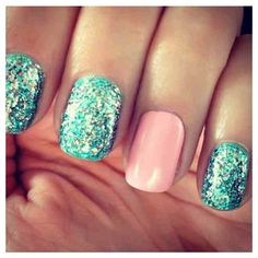 Classic pale pink and disco turquoise - also known as the 'best of the both worlds'...