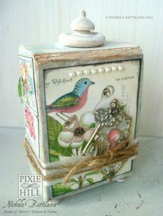 G45 Botanical Tea Artist Trading Block - Nichola Battilana graphic45, graphic 45, botan tea, box