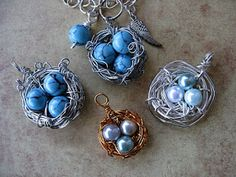 Bird's Nest Pendant: Easy Wire Wrapping Technique