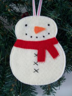 Snowman Ornament/Gift Card Holder by LookHappyShop, via Flickr