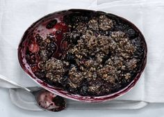 gluten free!  Sweet and Sour Cherry and Buckwheat Crumble - Bon Appétit