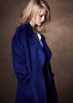Be striking in blue in this #BestofBritish cocoon coat