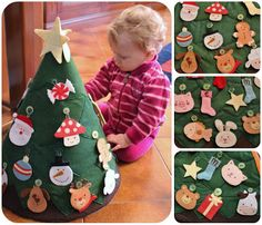 CraftyandCookingMomma: Toddler Christmas Tree. This is going to come in handy next year!!