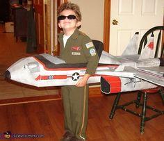 """Maverick"" and his Top Gun Fighter Jet - Halloween Costume Contest"