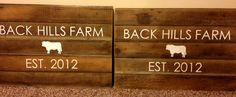barnwood built - Custom wood signs; each letter/picture is hand etched and painted on old reclaimed barn wood.