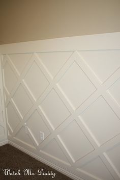 Install lattice wainscoting