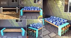 How to Create Your Own Cinder Block Bench Easily