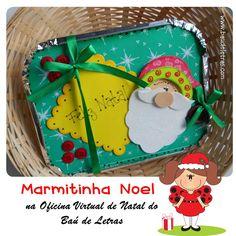 Baú de Letras: Marmitinha Noel {para encher de gostosuras!}