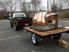 Beautiful Wood Fired Oven...part of Grey Horse Tavern's Rolling Kitchen!