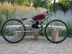 Motorized Bicycle  Bobber Build