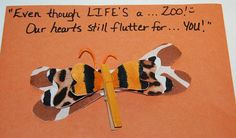 Zoo-themed #Valentines Day Craft with Printable Caption for #Preschool and #Kindergarten