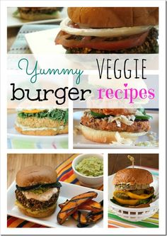 Veggie Burger Recipes - looking for a healthy burger option?  Try out some of these great veggie burgers!