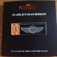 Harley Davidson 100th Anniversary Items | Harley Davidson 100th Anniversary Two Tone Pin NWT LQQK | eBay