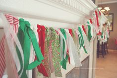 Fabric garland...cheaper than a ribbon garland
