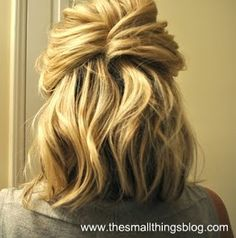Half French Twist - super easy work hair style