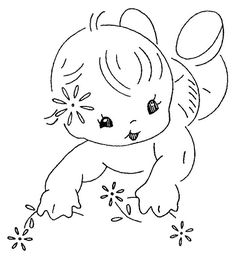 This is too adorble.  I think this would be a great embroidery pattern for a burp cloth, blanket, or onsie.....I am trying to think of useful things to embroider while I am on bed rest