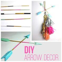 My DIY Arrow Decor on @Whimseybox.    http://blog.whimseybox.com/diy-arrow-home-or-party-decor