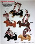 Dachshund Holiday Ornaments (5 Ornament Set) $15.95