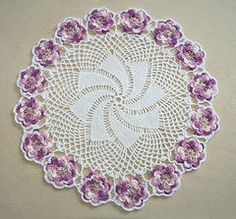 Ravelry: Garland #A-796 - Rose Doily pattern by Priscilla Doilies