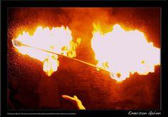Fire Baton Twirling <3