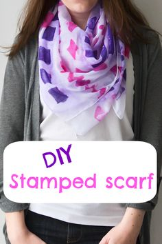 Here's a #gift idea: create a special scarf for a friend with stamps. #gift #MindfulLiving OurMLN.com