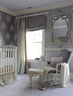 Modern nursery via @LillianAugust #baby #nursery ideas