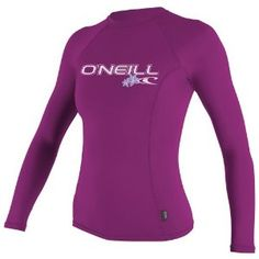 #9: O'Neill Wetsuits Women's Basic Skins Long Sleeve Crew.