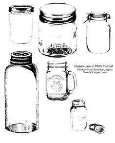 {Free} Printable and Digi Mason Jars