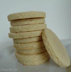 Flour De Lis ~ Coconut Cream Cut Out Cookies