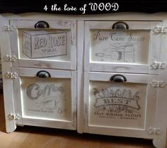 Love this idea for kitchen cabinet makovers