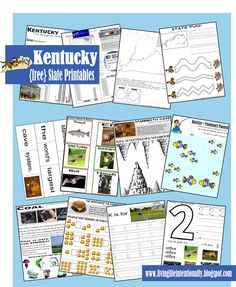 {free} Kentucky State Printable Pack with learning fun for Preschool - 5th grade! This 30 page pack is great for roadtrip, social studies study, or just learning about your own state. This is part of a series from www.livinglifeintentionally.blogspot.com with all 50 states.